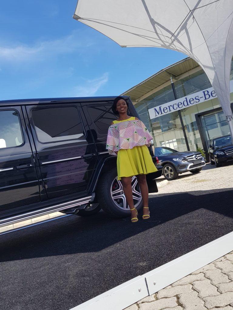 Oma Ehiri at Mercedes-Benz World PR Beauty Business Week
