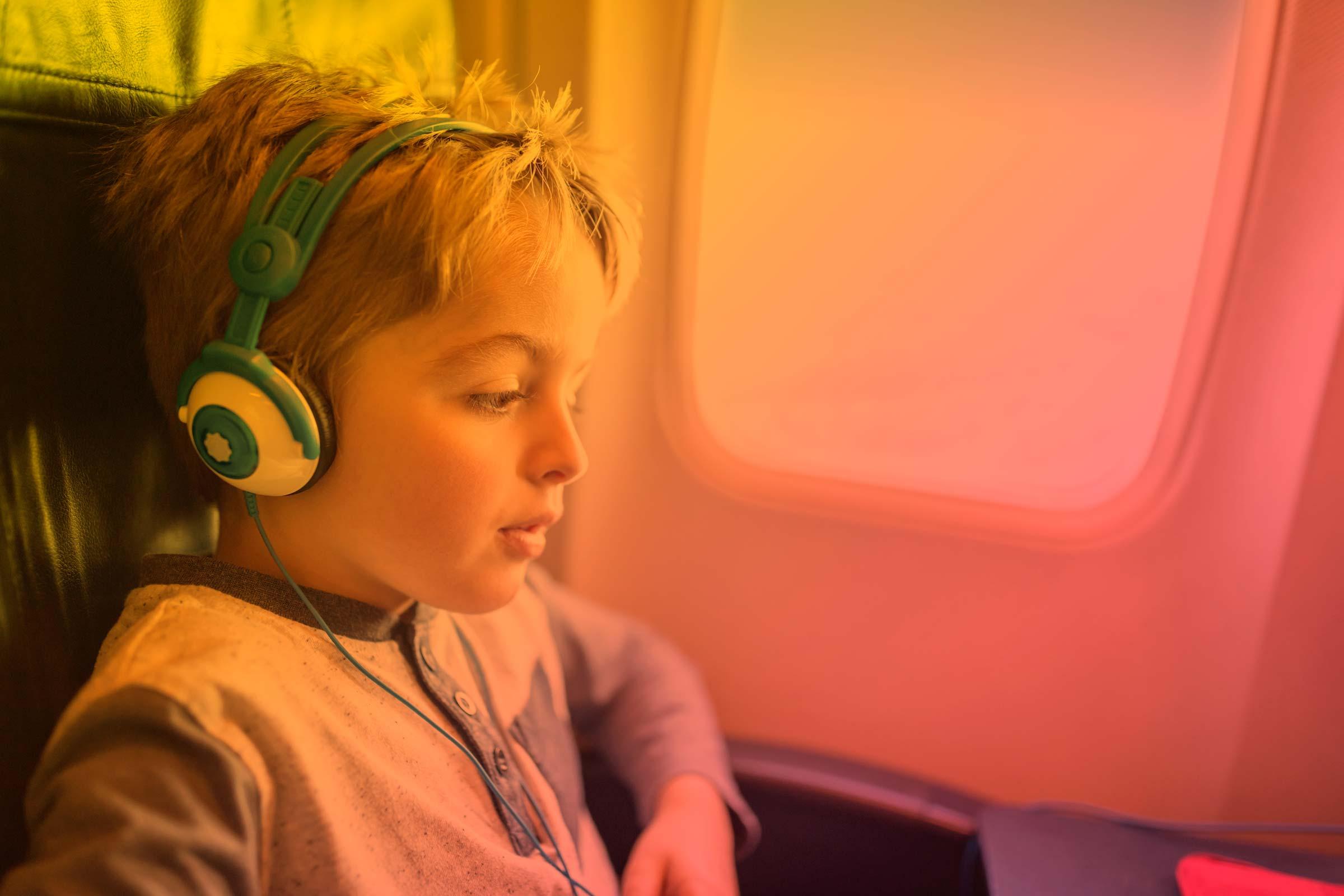 entertainment for kids in flight