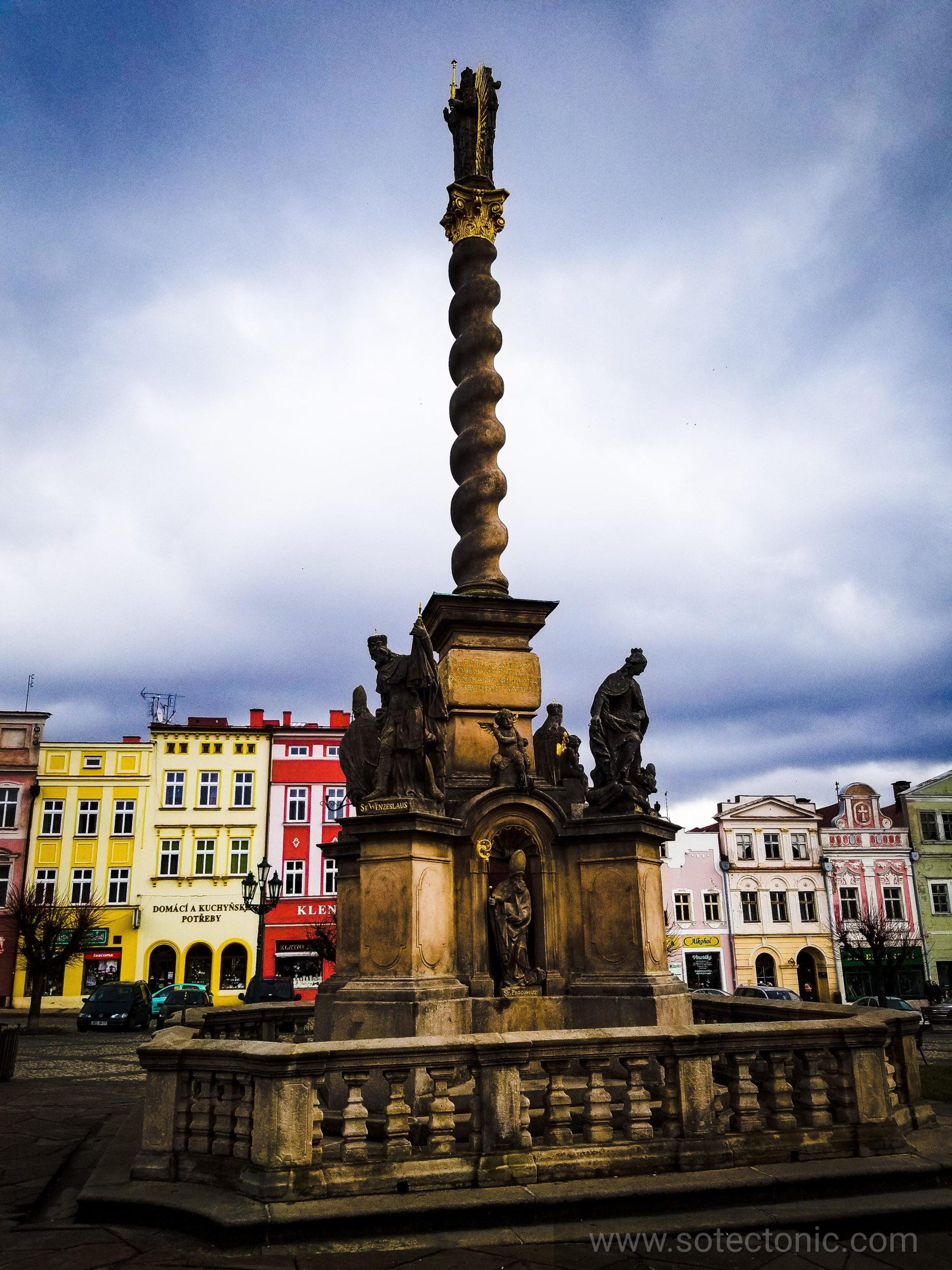 marian column in Broumov