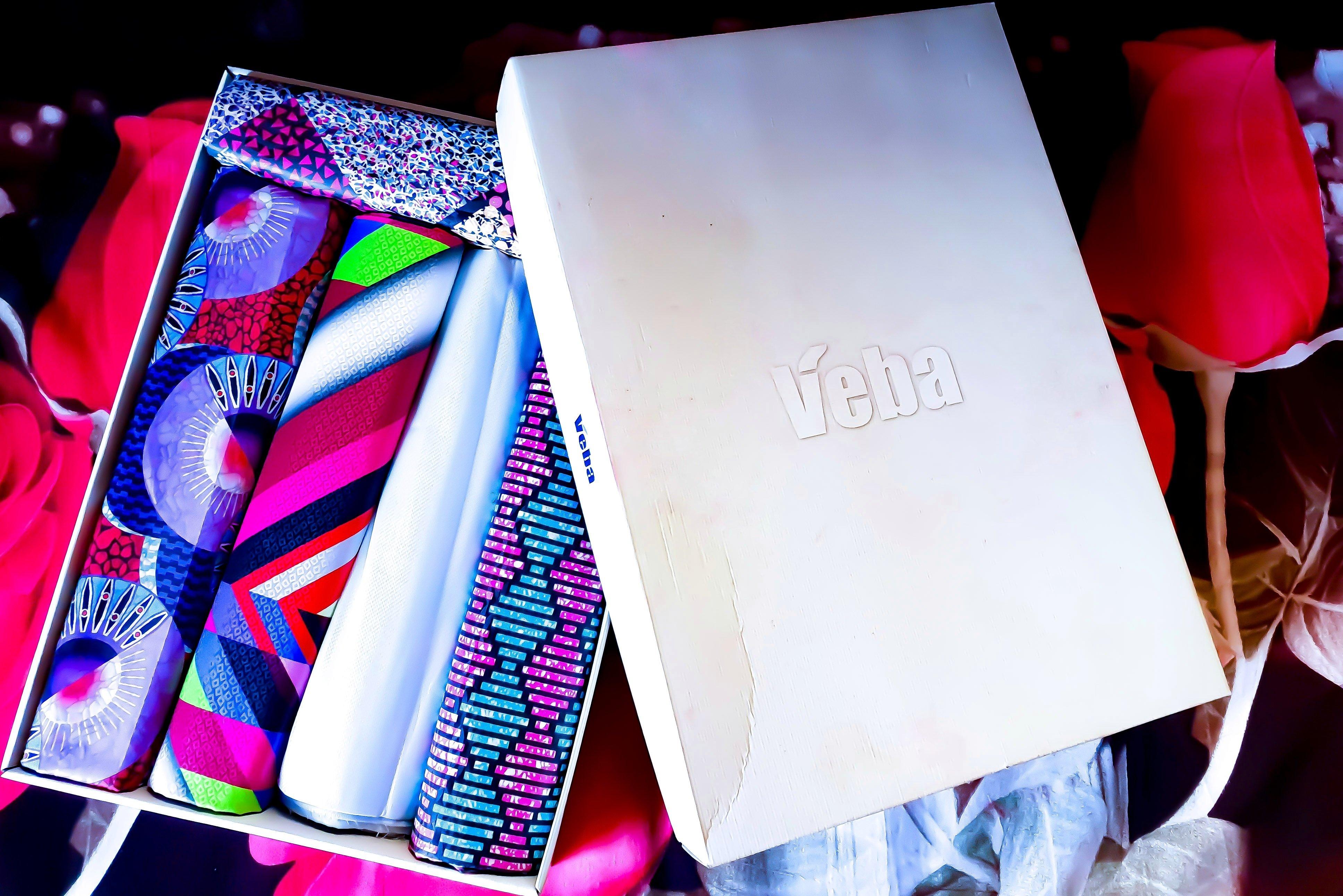 a box of ankara fabrics