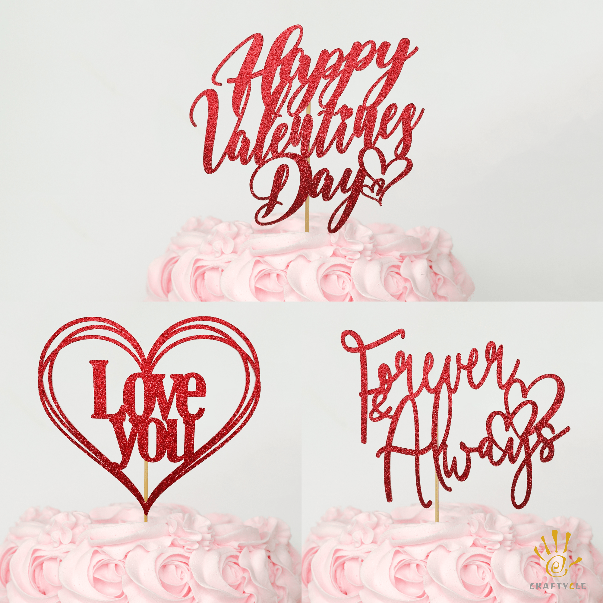 Valentine cake toppers